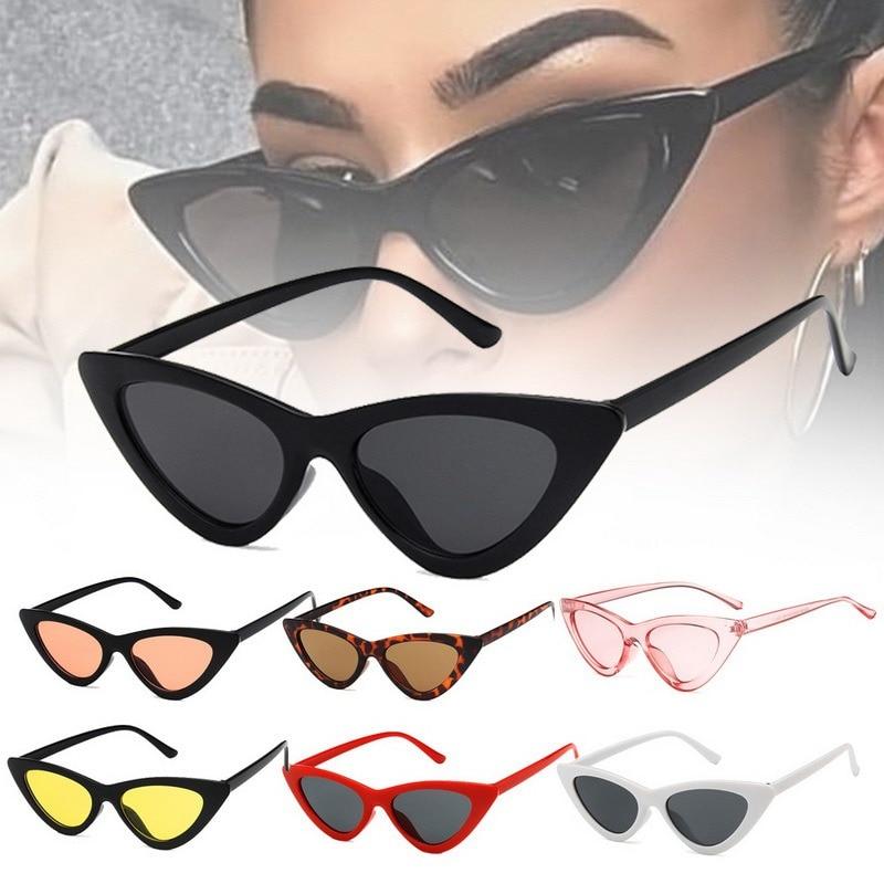 Spedizione gratuita moda donna Cat Eye occhiali da donna Vintage retrò piccola femmina carino tendenza occhiali da sole UV ombra Zonnebril Dames 1