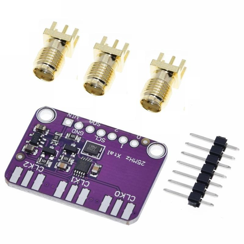 Генератор часов для Arduino, 1 шт., 3 в-5 в пост. Тока, 5351 Si5351A, Si5351, I2C, модуль, генератор сигналов, часы, 8 кГц-160 МГц