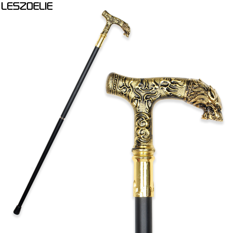 Lion Head Luxury Decorative Walking Stick Canes Men Party Vintage Walking Canes Women Fashion Elegant Walking Stick