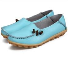 цена Flats For sneakers Women Comrfort Genuine Leather Flat Shoes Woman Slipony Loafers Ballet Shoes Female Moccasins Big Size 35-44 онлайн в 2017 году
