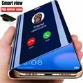 Умный зеркальный флип-чехол для телефона Samsung Galaxy S21 S10 S9 S8 S20 FE Lite Ultra Note 20 10 9 8 Plus S7 Edge