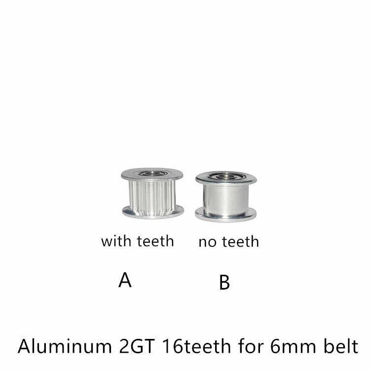 Correia dentada síncrona da roda, 2gt 16 dentes diâmetro 3mm com rolamento para gt2 largura da correia dentada 6mm 16 dentes 16 t