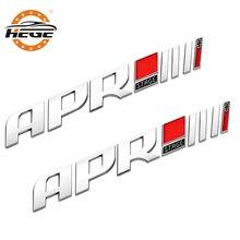 Car 3D ABS APR Stage III Emblem Badge sticker for Audi sline QUATTRO A4 A6 Q5 b5 b6 RS4 RS6 Car Side Fender Trunk body stickers
