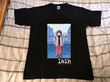 Vtg! Serial Experiments Lain Anime Japan 1999 T-Shirt  Reprint Evangelion Short-Sleeved Print Letters