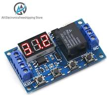 DC 6-30V Support Micro USB 5V LED Display Automation Cycle Delay Timer Control Off Switch Delay Time Relay 6V 9V 12V 24V(China)