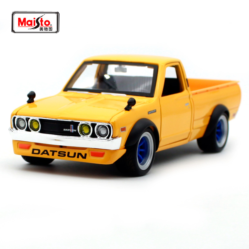 Maisto 1:24 1973 Datsun 620 Pick-up Involving Car Diecast For Car Cover Car Model  Motorcar Diecast For Men Collecting