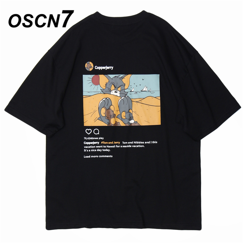 OSCN7 Graphics Print Men's T-Shirts 2020 Funny Short Sleeve Tshirts Summer Hip Hop Casual Fashion Women Top Tee Streetwear T29