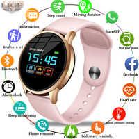 LIGE fitness tracker reloj inteligente impermeable deporte para IOS Android teléfono inteligente Monitor de ritmo cardíaco funciones de presión arterial
