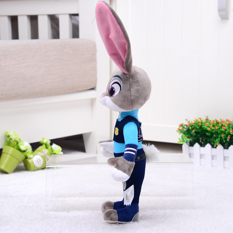 HONJI 15inch Movie Zootopia Plush Toy Cute Zootopia Rabbit Judy Hopps Plush Toys Doll Soft Stuffed Animals Toys Children Gift