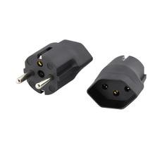 Europ AC Power Plug Schweizer zu Deutschland Stecker adapter Reise Adapter buchse 10A 250V EU Power adapter Elektrische stecker
