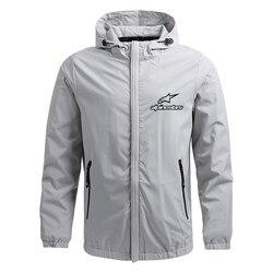 Moda quente jaqueta masculina leve com capuz zíper à prova dwaterproof água e à prova de vento protetor solar jaqueta alpine estrela esportes ao ar livre