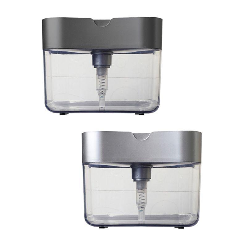 Soap Dispenser Set Sink Organizer Pump Soap Dispenser With Sponge Holder Detergent Dispenser Kitchen Utensil Holder For Kitchen