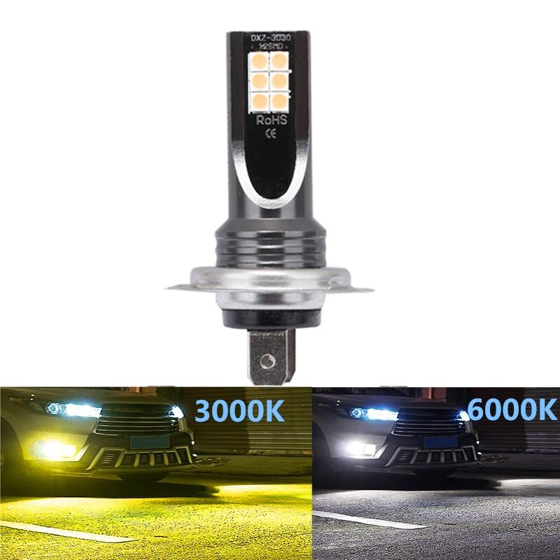 1Pcs H7 LED Bulbs H1 H3 H8 H9 H11 HB3 HB4 9005 9006 Car Fog Lights 1500LM 3000K 6000K Super Bright 12 3030SMD Auto Led Lamp 12V