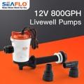 Seaflo 800gph Livewell Aeration Pump fishing Boat Live Baittank Aerator water Pump Fish Saver Marine Submersible Cartridge
