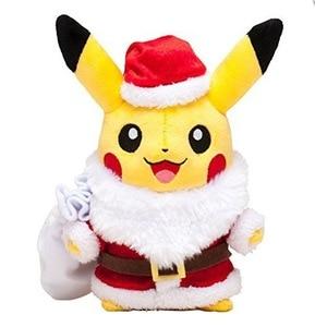 TAKARA TOMY 25cm POKEMON cute picachu role play Santa Claus plush animal toys children's Christmas gift(China)