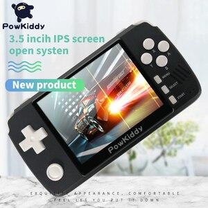 "Image 4 - Powkiddy q80 ريترو لعبة فيديو وحدة التحكم الهاتف 3.5 ""IPS الشاشة المدمج في 4000 ألعاب فتح نظام PS1 محاكاة 48G الذاكرة ألعاب جديدة"