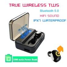 TWS наушники Blutooth 5,0, беспроводные наушники, 9D, стерео, Спортивная гарнитура, бинауральные звонки, аудиофон для телефона, Elair nanopods
