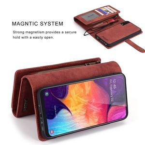 Image 5 - Premium Mutifuction Wallet Phone Cover For Samsung A70 Bumper For Galaxy A50 A40 Flip Leather Case Card Slots Holder Magnetic