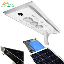 CE/Rohs certified detachable IP65 10W-100W all in one solar led street light with PIR sensor vioslite hot now product led light source and cool white color temperature cct all in one solar street light