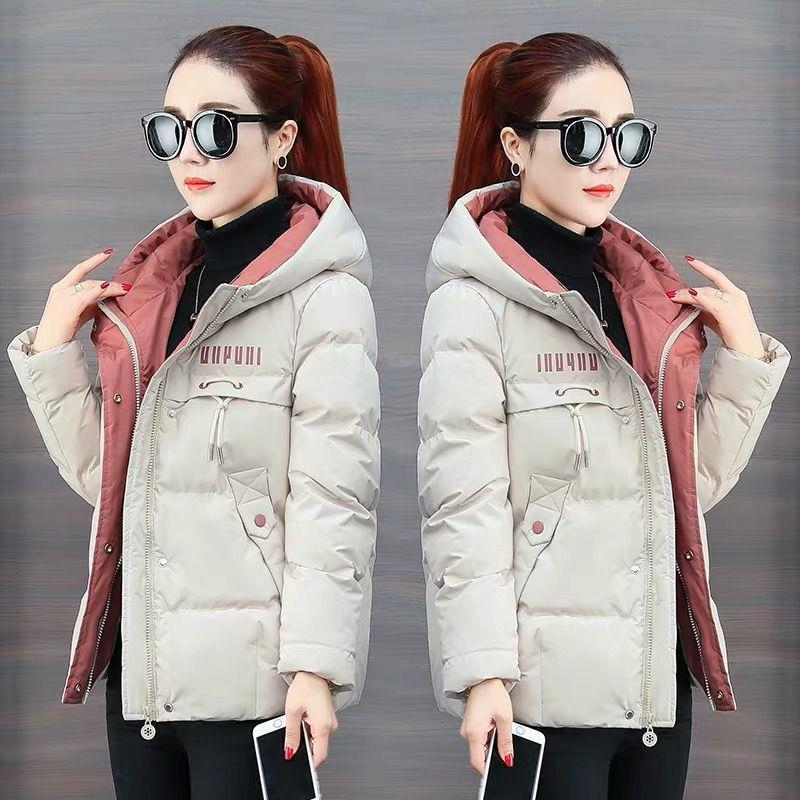 Cotton Women's Short 2019 New Korean Down Cotton Jacket Winter Coat Women's Loose Plus Thick Small Cotton Clothing White Coat