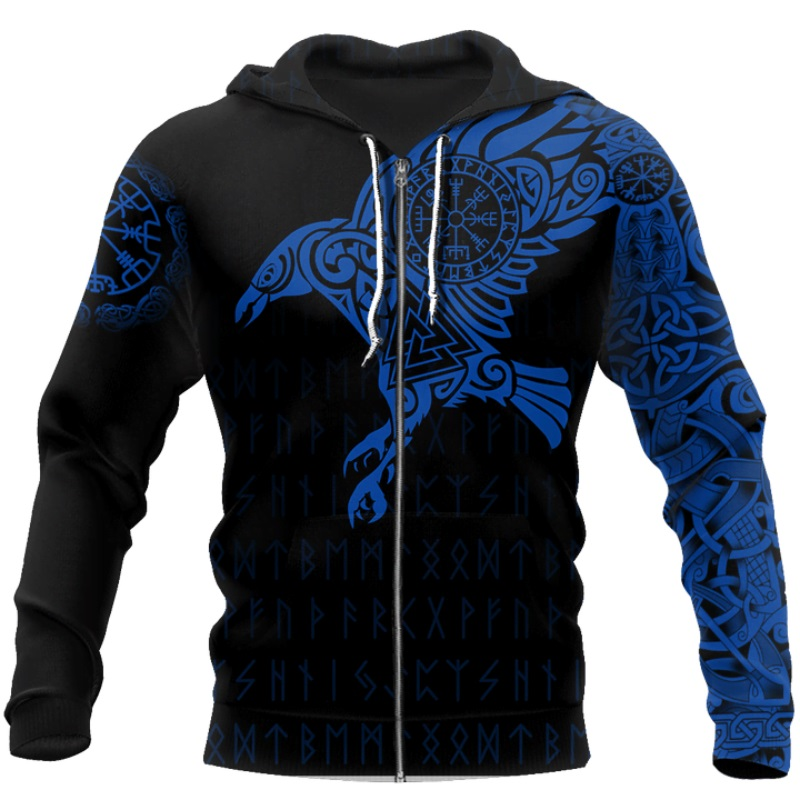 The Raven of Odin Viking 3D Printed Hoodie 14