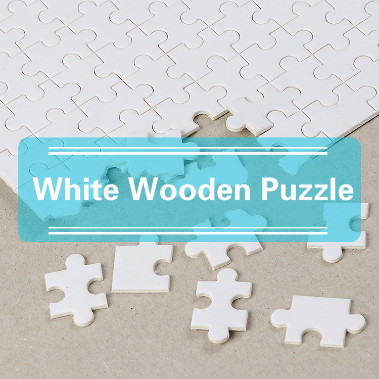 2019 White 1000 Pieces Of Wood Puzzle Heat Transfer Printing, Inkjet Printing, DIY Toy Puzzle Birthday Gift