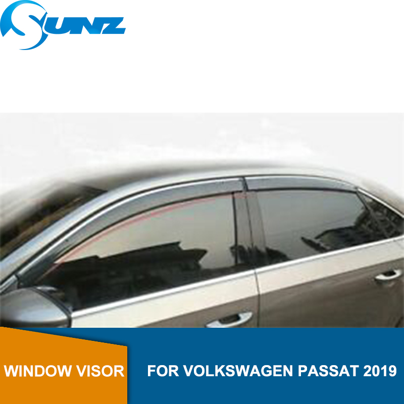 Window Wind Deflectors Of Accessories Window Rain Guard For Volkswagen VW PASSAT 2019 Sun Shade Awnings Shelters Guards SUNZ