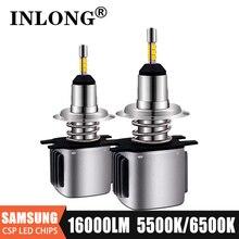 INLONG 2Pcs With SAMSUNG Chips H7 LED Headlight Bulbs H1 H4 9005 9006 H11 H9 H8 Led Lamp 16000LM Headlamp Fog Lights 5500K 6500K
