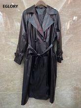 Осень зима 2020 хит продаж длинное пальто Тренч для женщин высокое