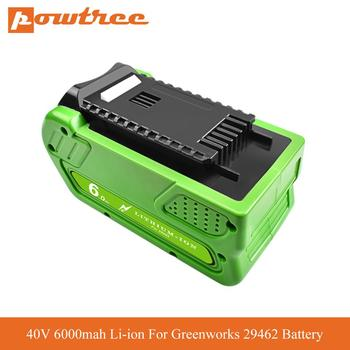 40V 6000mah Li-ion Rechargeable Battery Replacement For Greenworks Gen 2 G-MAX 29462 29472 20262 29282 power tool battery L70 20v 2500mah li ion rechargeable battery power tool replacement battery for black