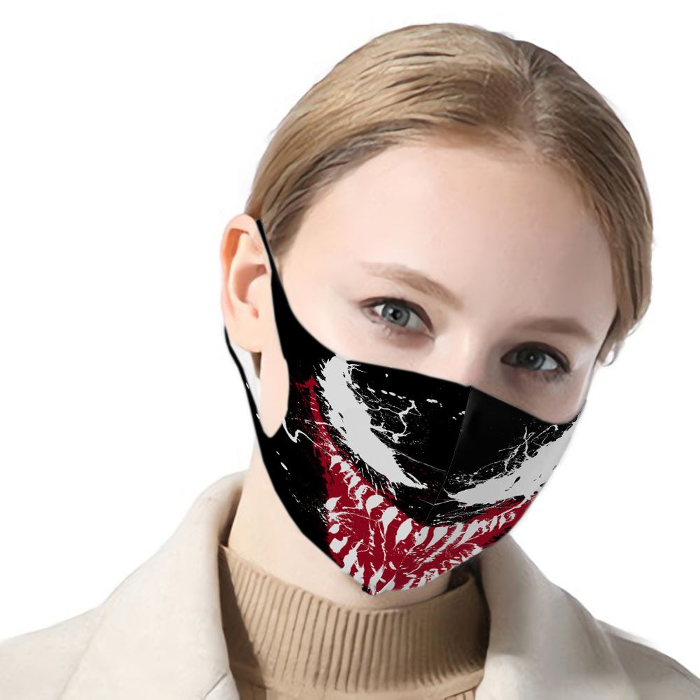 2020 High Quality 3d Print Venom Spider-Man N95 KF94 Adult Mouth Mask Activated Bamboo Carbon Prevent Anti Virus Face Women Kid