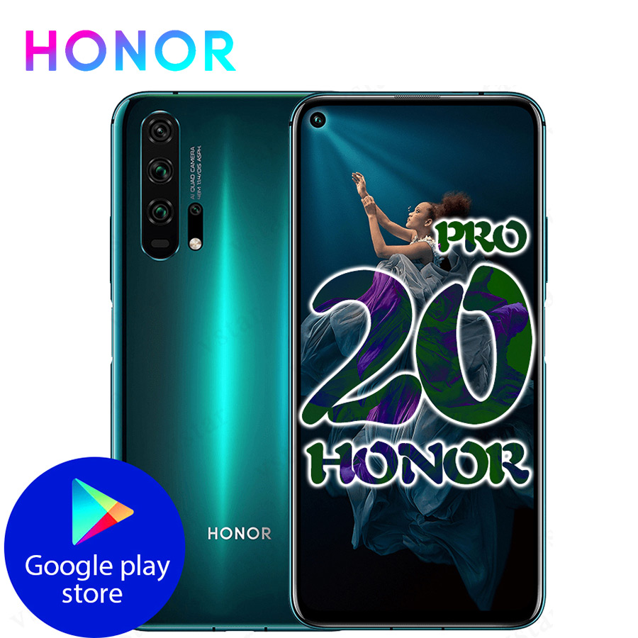 Globale Version EHRE 20 Pro Google Spielen Smartphone 6.26 ''8GB 256GB Kirin 980 Octa Core 48MP Kamera handy Android NFC