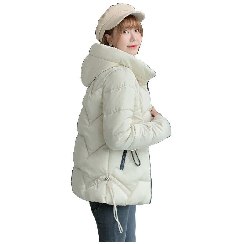 Short Oversized Hooded Winter   Down     Coat   Jacket Warm Loose Cotton padded Wadded Parkas Big Pocket Wind Breaker Sleeves
