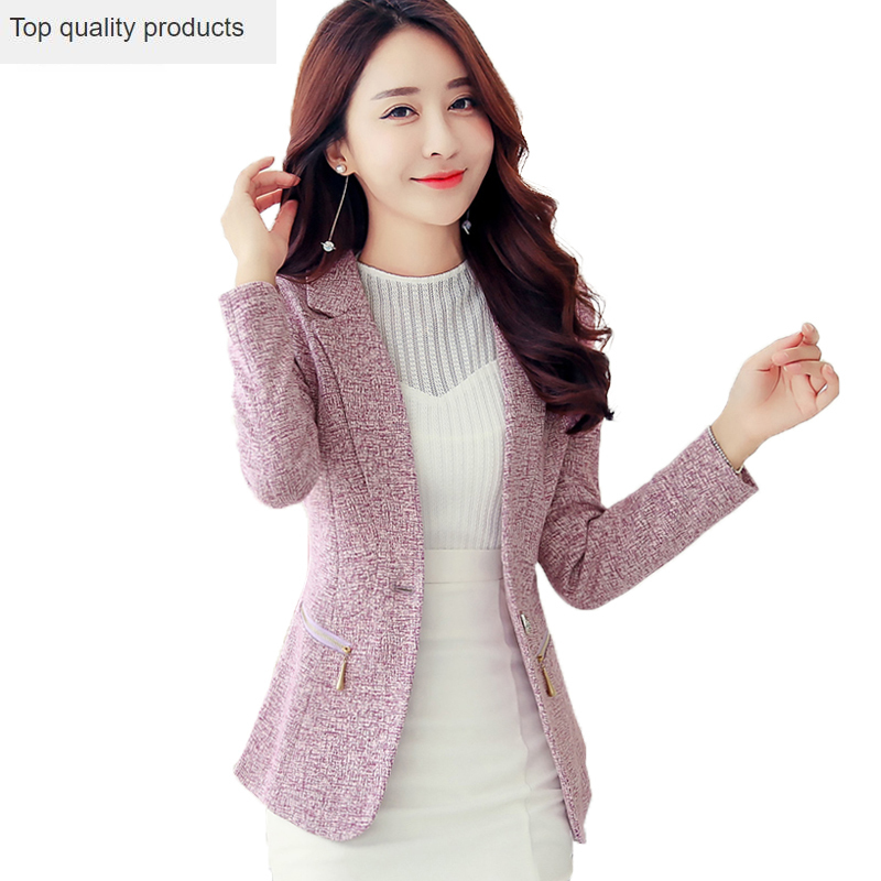 2020 New Women Blazers Plus Size Casual Suit Jackets Long Sleeve Notched Collar Slim Spring Jacket Ladies Office Blazer OK799