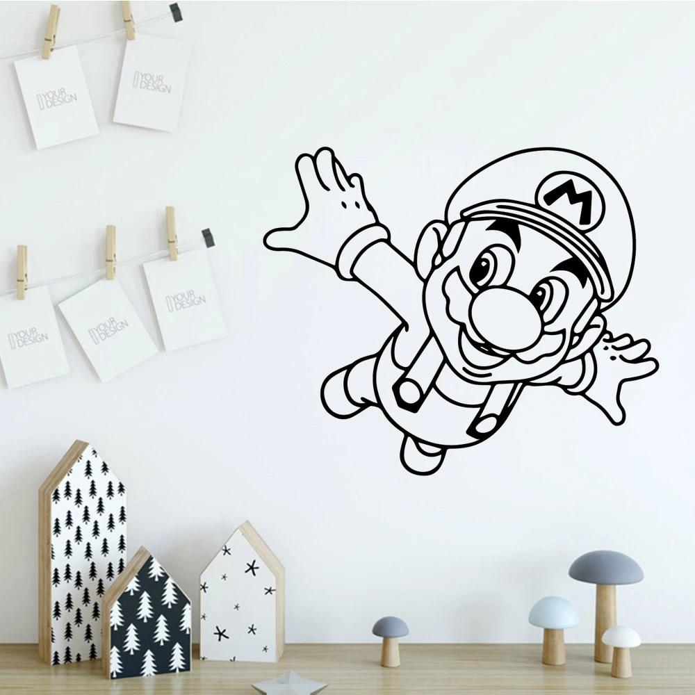 He has been married to ashwini kalsekar since 2009. Cartoon Funny Mario Vinyl Wallstikers For Kids Room Home Decor Mural Poster Adesivi Murali Wall Stickers Aliexpress