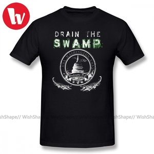 Elect T Shirt Drain The Swamp Pro Trump Apparel T-Shirt Men 3d Print Short Sleeve Tee Shirt Graphic 100 Cotton Casual T Shirts