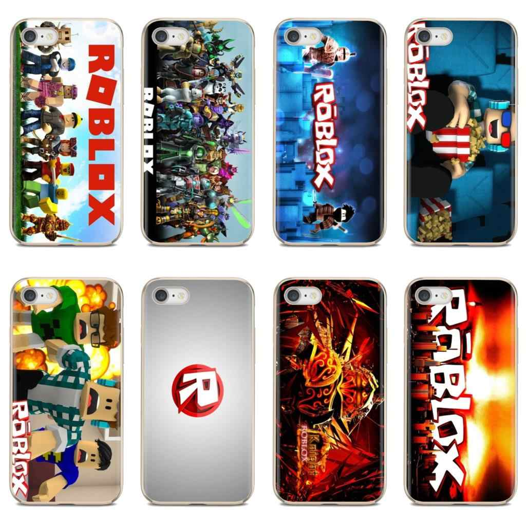 Cute Silicone Phone Case Games Roblox Logo Poster For Huawei P8 P9