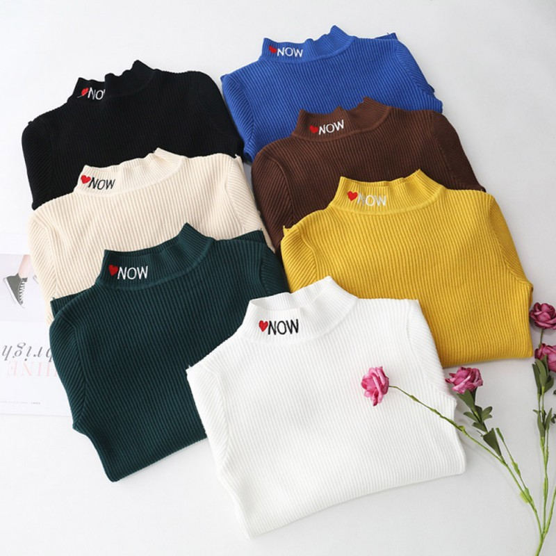 Autumn Winter Turtleneck Pullovers Sweaters Long Sleeve Knitted Sweater Slim Jumper Pull Femme Pullover