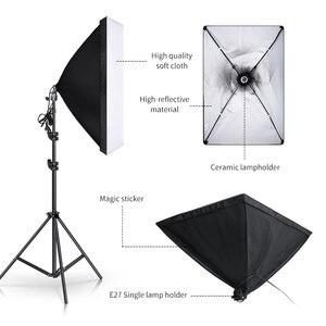 Image 3 - Zestaw oświetlenia Softbox profesjonalne Studio sprzęt ciągły z 20W LED 5500K E27 podstawka lampy do fotografii