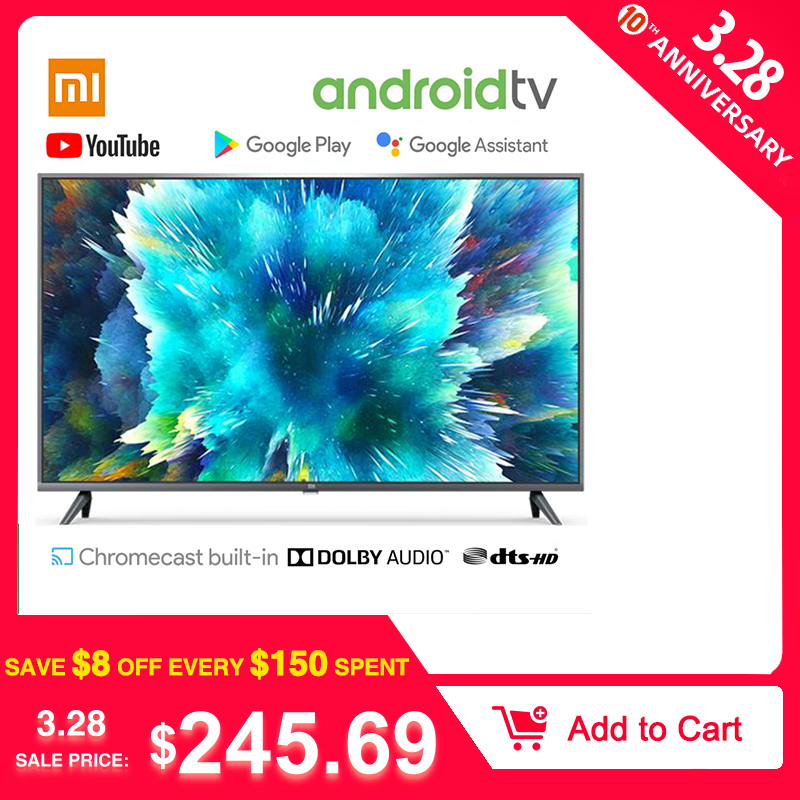 In Stock Xiaomi TV Smart TV 4S 43inch 32inch Television Voice Control 2GB RAM 8GB ROM 5G WIFI Android 9.0 4K UHD Smart TV