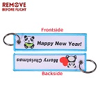 144 Fashion Christmas Gift Keychain  Lovely Panda Key Chain Motorcycles and Cars FashionableWoven Key Fobs Jewelry for Biker Lovers (1)