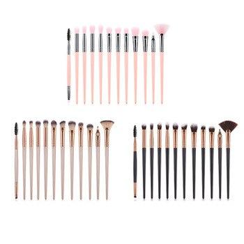 12PCS Makeup Brushes Set Professional Eyeshadow Powder Blush Brush Eyeliner Eyelash Eyebrow Makeup Cosmetics Brushes
