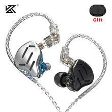 KZ ZAX Headset 16 Einheiten HIFI Bass In-Ear-Monitor Hybrid technologie Kopfhörer Noise Cancelling Ohrhörer 7BA + 1DD Sport kopfhörer