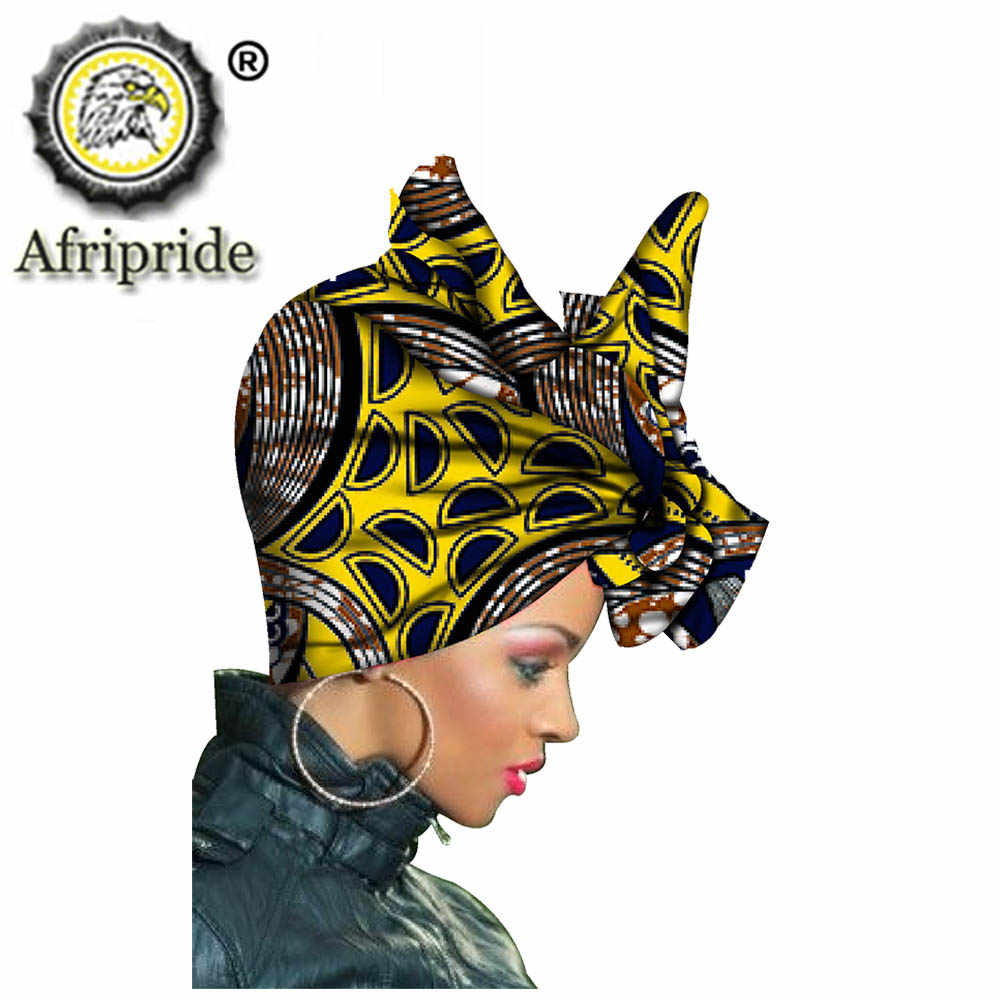African Headscarf for Women Print Traditional Headtie Headscarf Turban Cotton Wax Scarf Shawls Women African Head Wrap S20H001