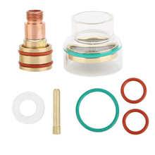 Комплект сварофонарь TFM53NCN TIG, стеклянная чашка, Цанга 1,6 мм/2,4 мм/3,2 мм, Сварочная насадка для WP17/WP18/WP26