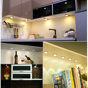 Image 5 - 4/6/8PCS LED Under Cabinet Light Kitchen lights 12V 2W bar lamp with Switch Home wardrobe Lamp Showcase Lamps Decoration