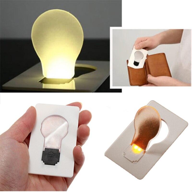 Hot Sale EDC LED Card Light Pocket Lamp Purse Wallet Emergency Light Outdoor Tools  Paper Card Emergency Lingting Tools