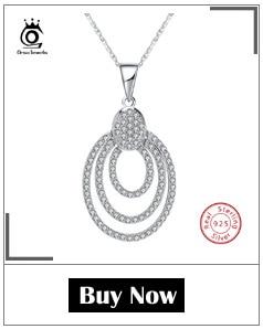 H04342d5bdc2f4a1f84b2b4b34e472bbd9 ORSA JEWELS 100% Real 925 Sterling Silver Pendants& Necklaces Shiny AAA Cubic Zircon Star Shape Women Fine Jewelry SN82
