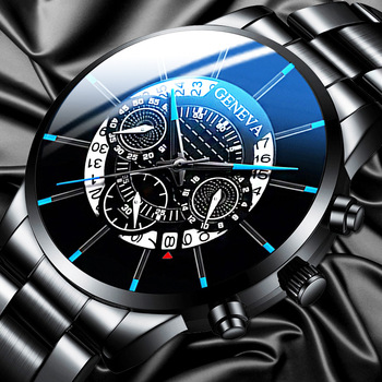 GENEVA Luxury Watch Men Stainless Steel Wristwatches Relogio Masculino Casual Watch for Man Clock Calendar Watches reloj hombre 2020 men s watch reloj hombre relogio masculino stainless steel calendar quartz wrist watch men sports watch clock geneva clock