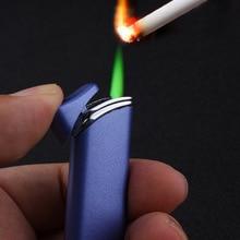 цена на Long Strip Torch Jet Lighter Windproof Gas Green Flame Lighters Inflatable Butane 1300 C Cigarette Cigar Lighter Gadgets For Men